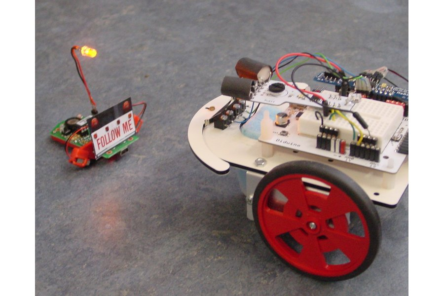 Mini-shield for two motors +power switch +LEDs