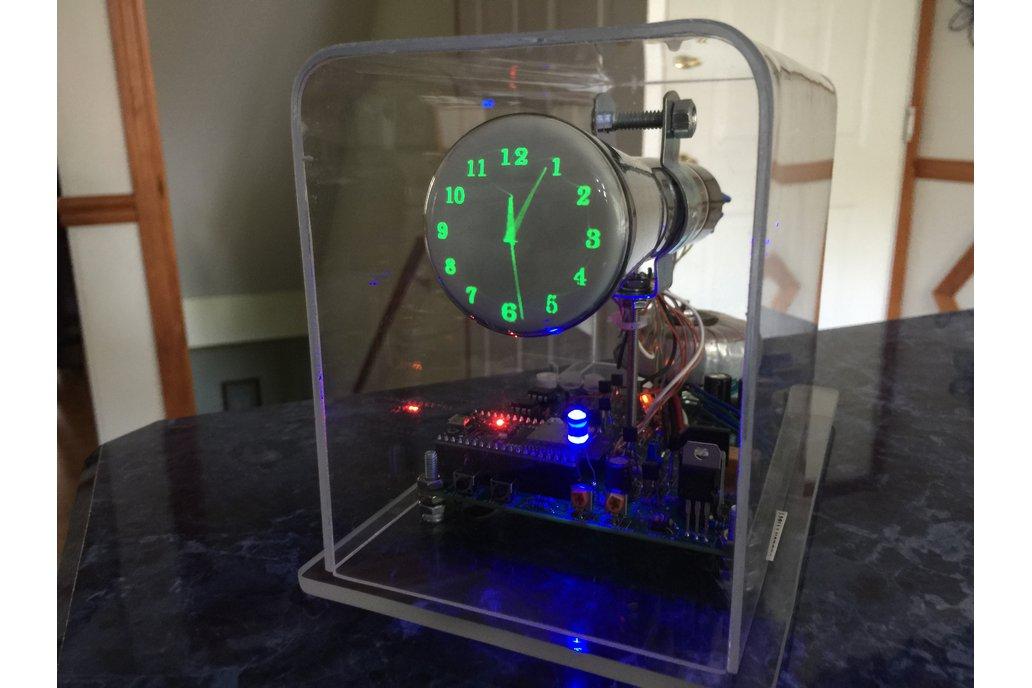 """Oscilloscope Clock 2AP1 2"""" round Cathode Ray Tube 1"""