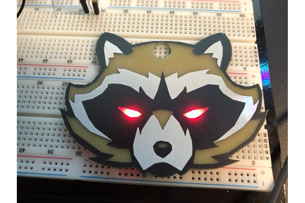 #Badgelife Trash Panda -  Standalone Badge 1