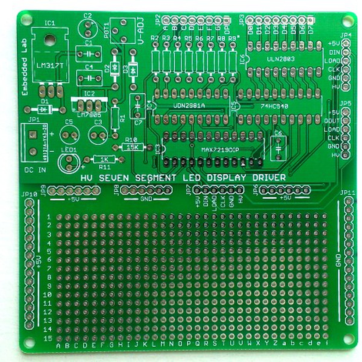 Serial Driver For Large Seven Segment Led Displays From Embedded Lab Arduino 7 Display On Digital Temperature Sensor Schematic Tindie