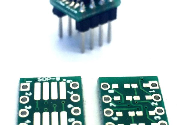 10x SMT to DIL Adapter for soic-8 oder sop-8