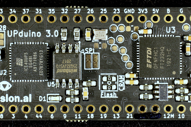 UPduino v3.0 low cost Lattice iCE40 FPGA board