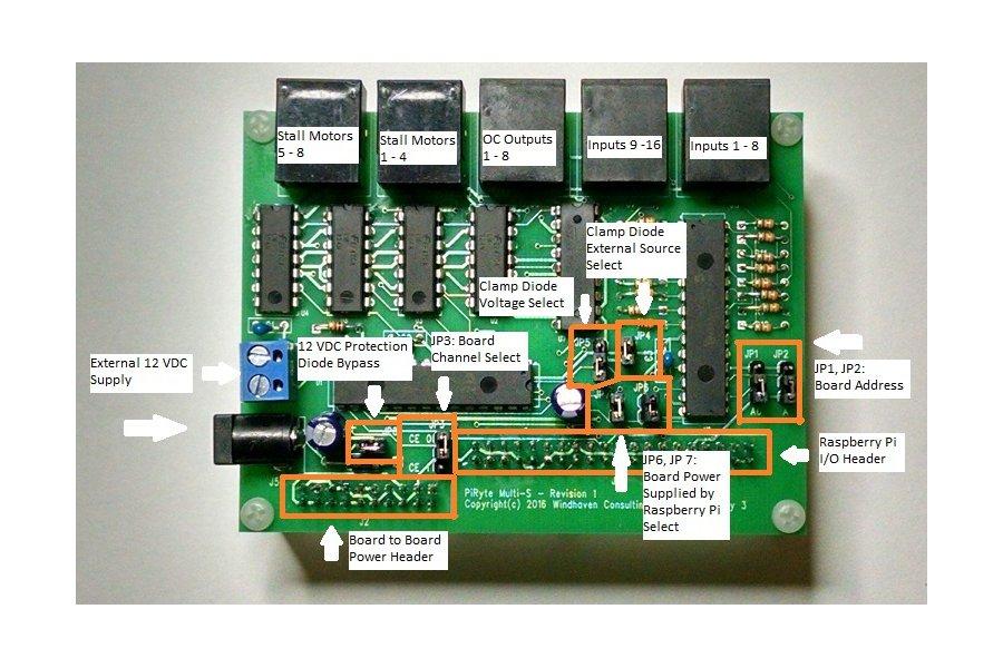 PiRyte Multi-S Extended I/O for Model Railroading
