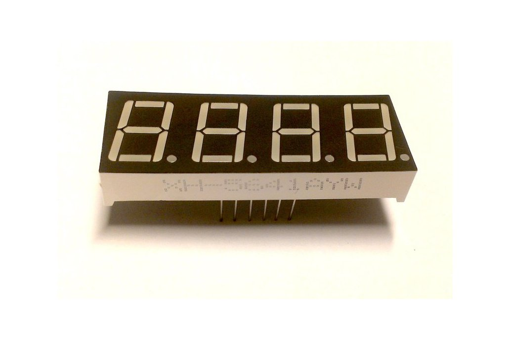 4 Digit Seven Segment LED Display (Common Cathode) 1