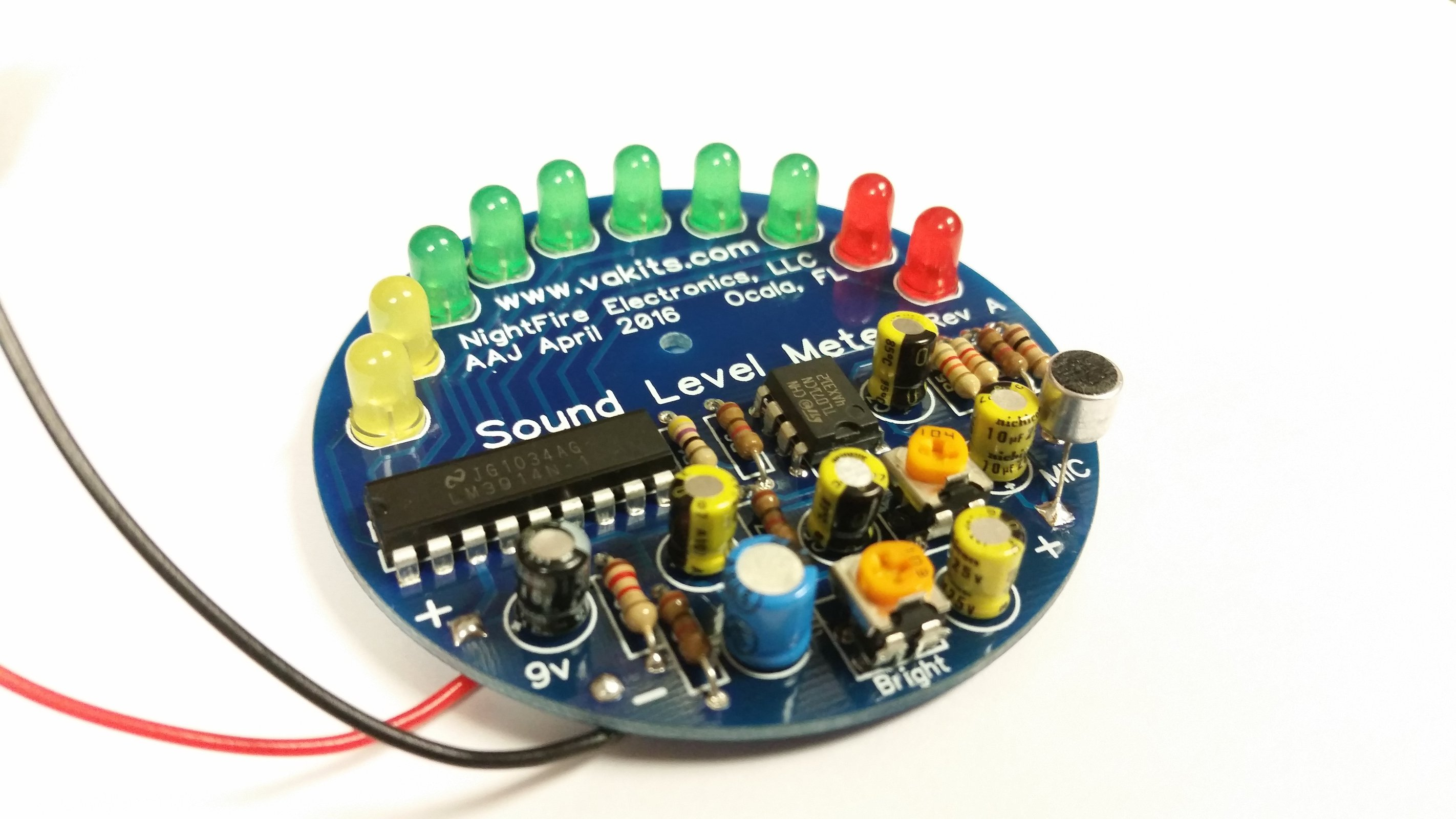 Led Sound Level Meter Kit From Nightfire Electronics Llc On Tindie Circuits Projects Electronic Kits Hobby More 1