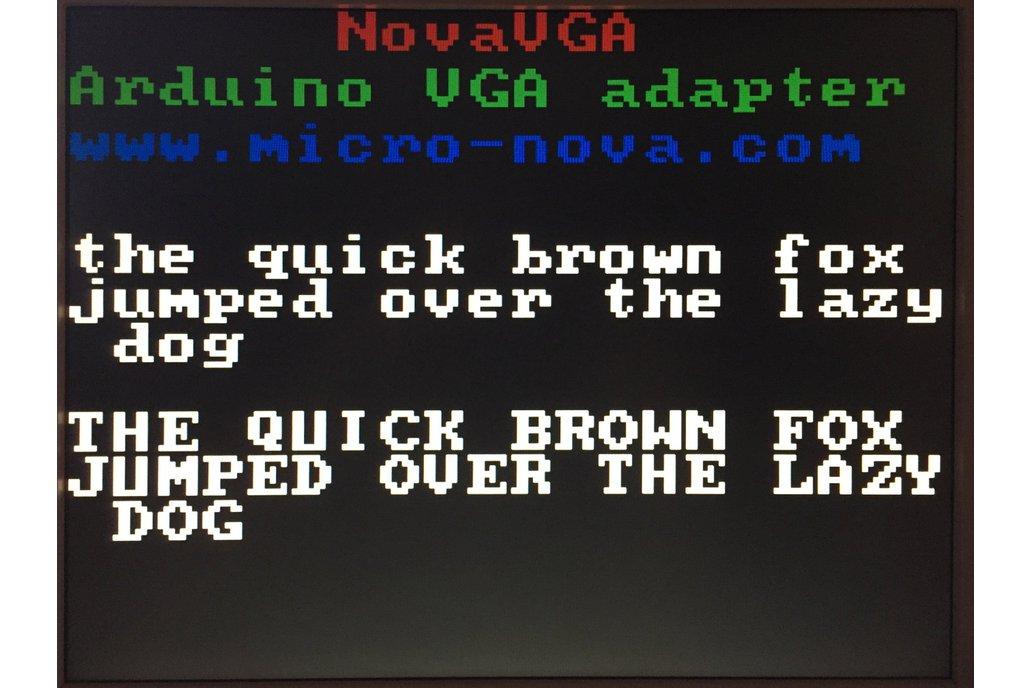 NovaVGA - Arduino graphics shield 3