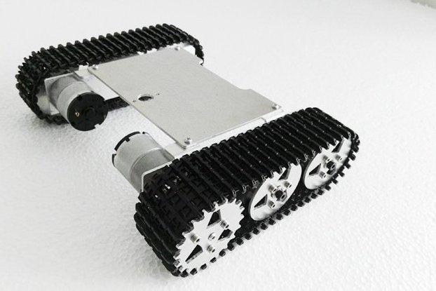 Metal robot tank chassis