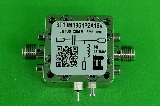 Bias Tee Broadband 10 MHz to 18 GHz 16V 1.2A