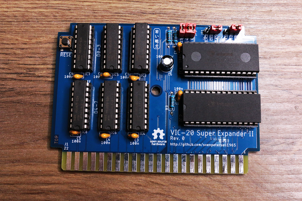 VIC-20 3Kb Ram Expansion + 8x 16Kb Games cartridge