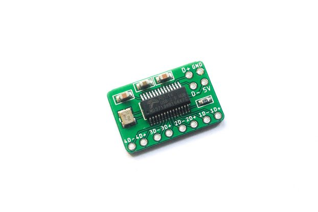 tinkerBOY 4-Port USB Hub Breakout Board