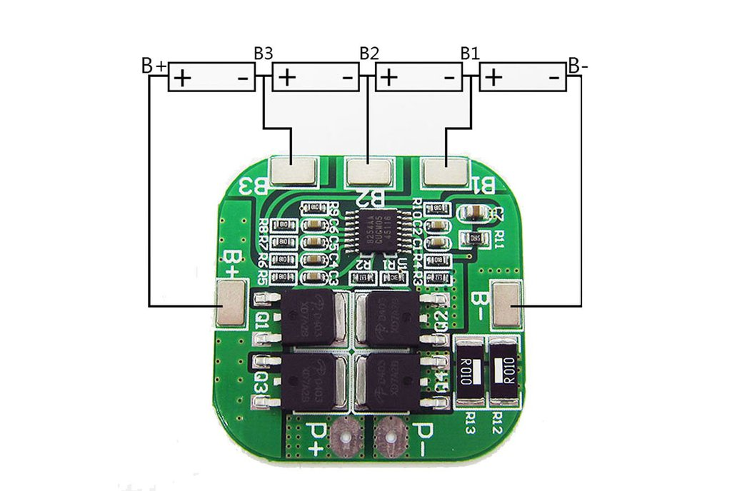 4S 14.8V Lithium Battery Protection Board(13229) 6