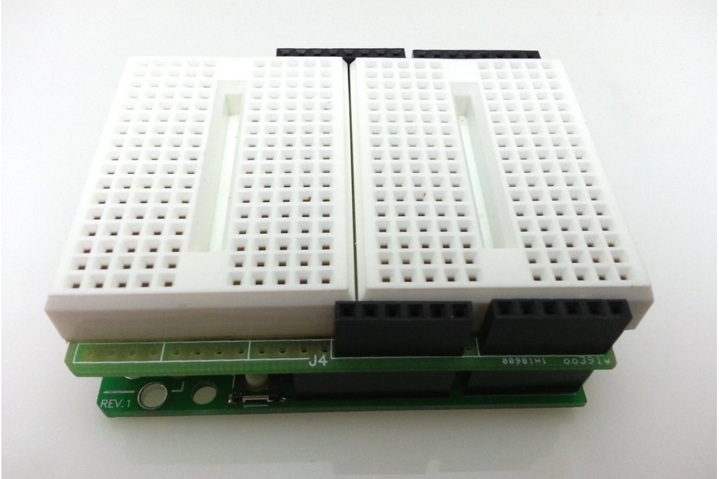 Arduino-compatible Solderless Breadboard Shield 1