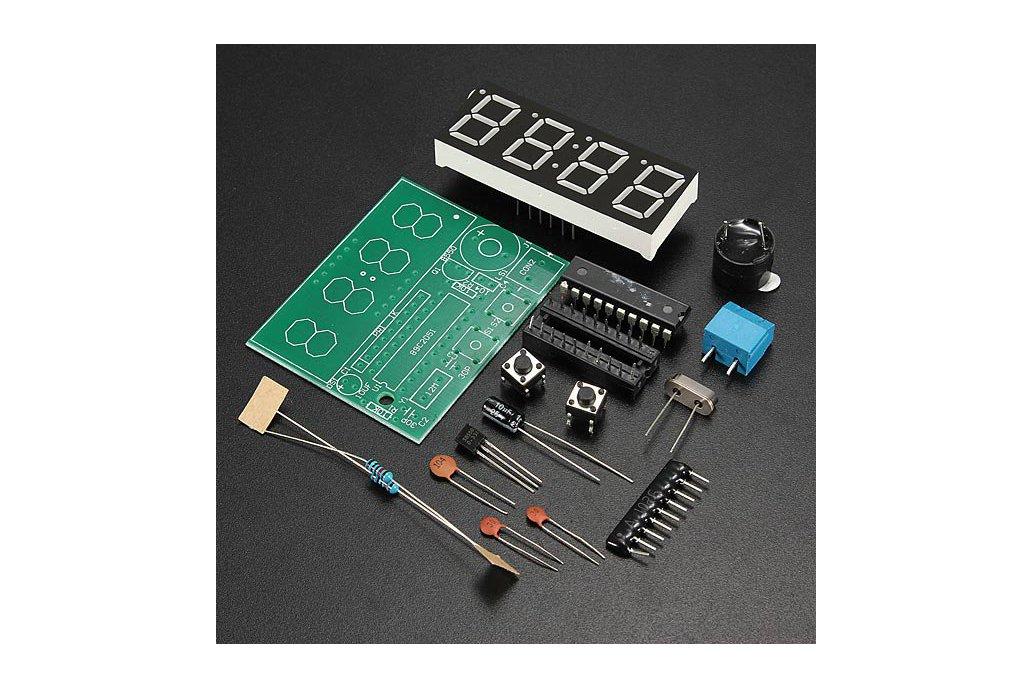 C51 4 Bits Electronic Clock Electronic Production Suite DIY Kits 1
