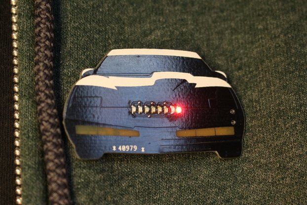 K.I.T.T. Knight Rider Blinky LED Badge