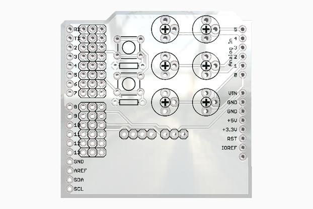 Servo and Potentiometer Arduino Shield