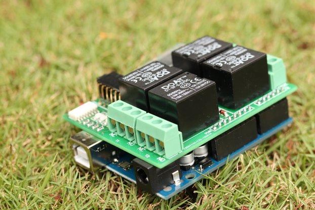 4 relay bluetooth shield for Arduino