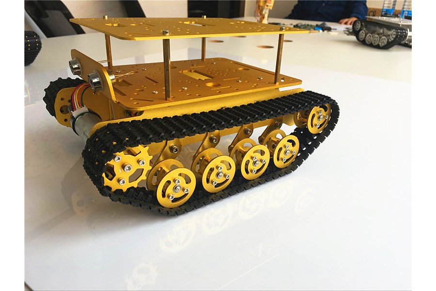 Double Panel Metal Shock Absorption Robot Tank Car