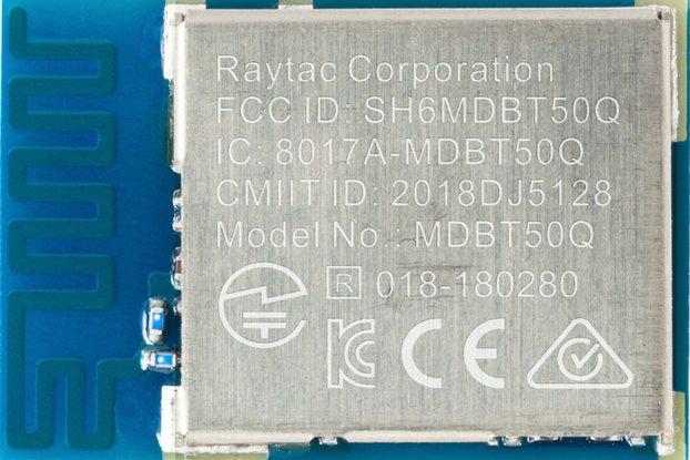 nRF52840 BT5.1 Antenna Module Raytac MDBT50Q