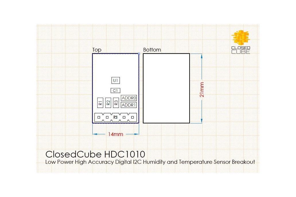 HDC1010 High Accuracy Humidity/Temperature Sensor 5