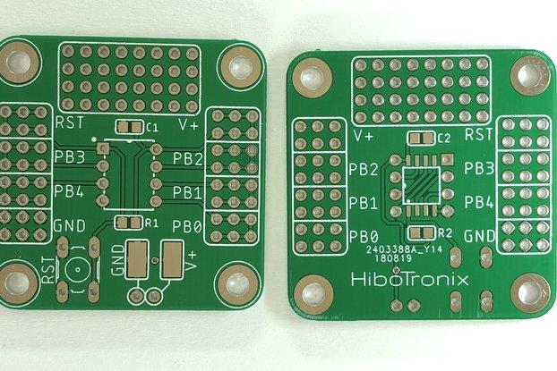 ATTiny 25/45/85 ProtoBoard (THT/SMD) V2