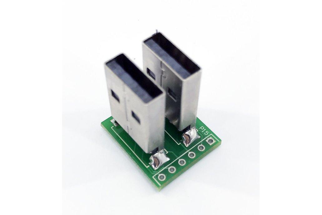 Dual USB male header plug breakout 2
