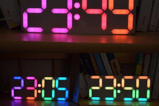 Large Rainbow Digital Tube DS3231 Clock DIY Kit