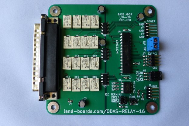 16 Channel I2C Relay Card