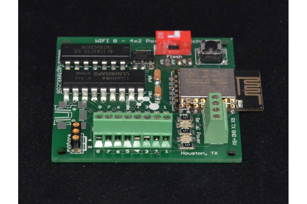 WIFI 8 or 4x2  position  relay control board 1