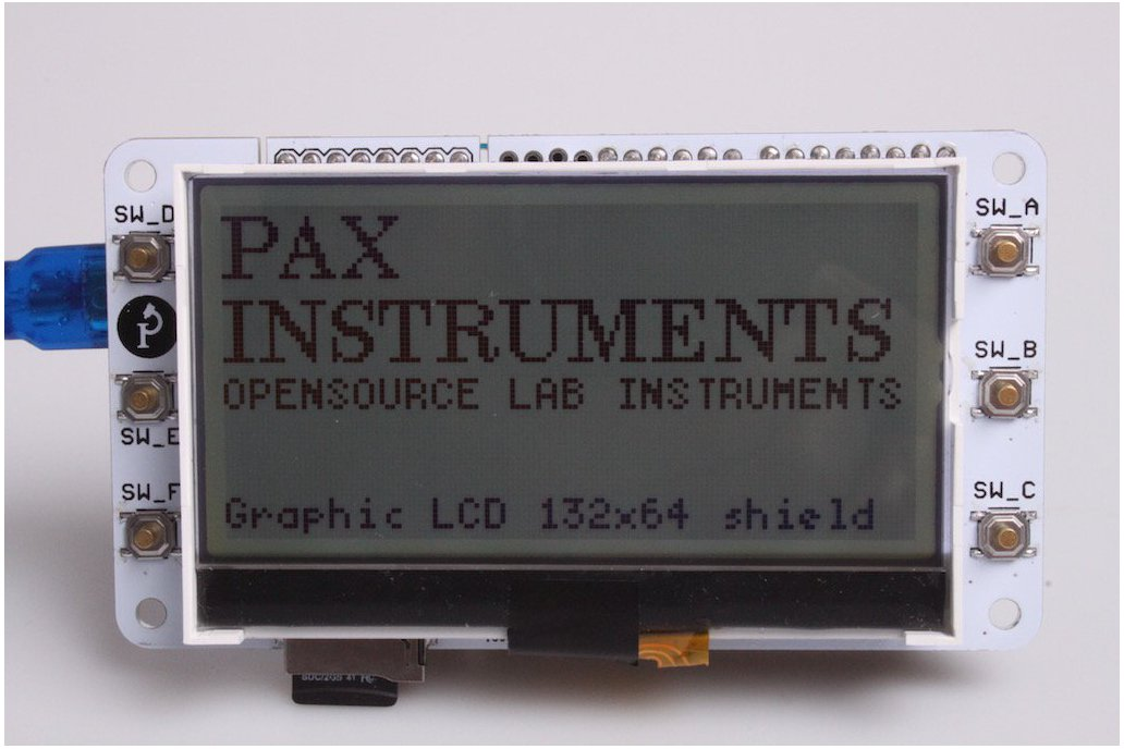 Graphic LCD 132×64 Arduino Shield + LCD 1