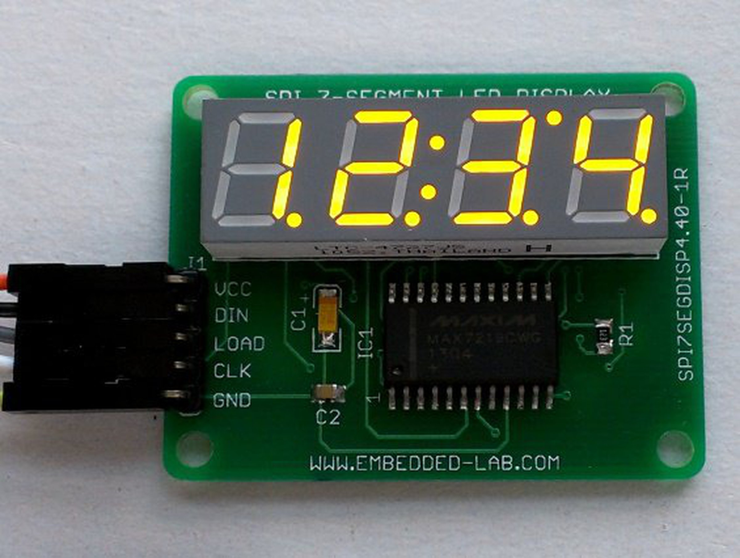 Spi 4 Digit Seven Segment Led Display From Embedded Lab On Tindie Decoder Bcd To 7 1
