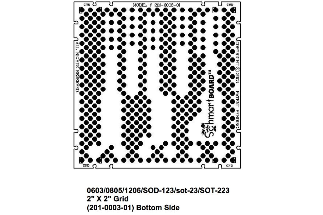 "SchmartBoards Discrete Surface Mount 2"" X 2"" Grid 3"