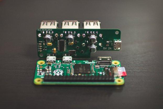 PiAngle - Plug-n-play Raspberry Pi Zero USB Hub