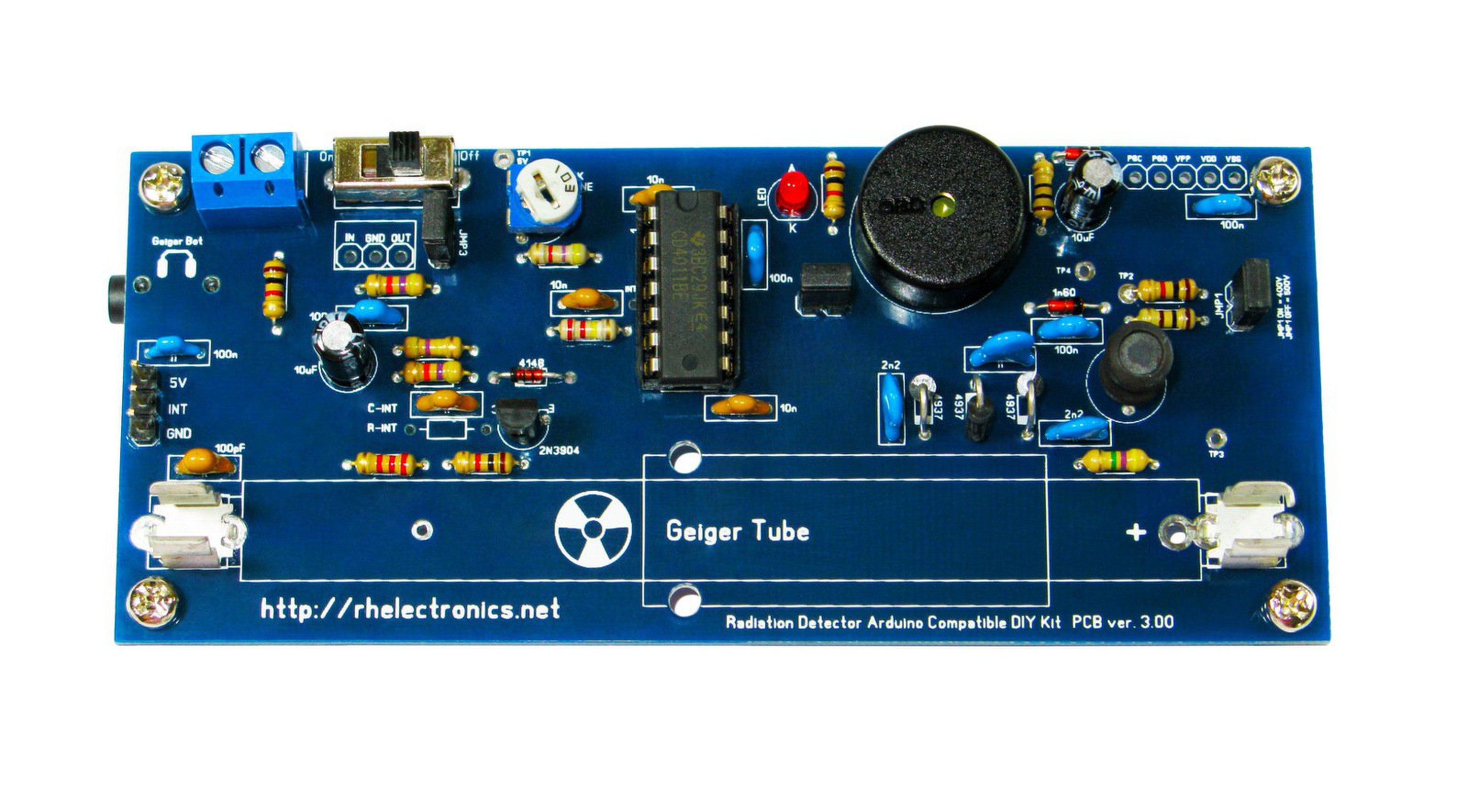 Geiger Counter Radiation Detector Diy Kit From Rh Electronics On Tindie Operation Circuit And Specific 4
