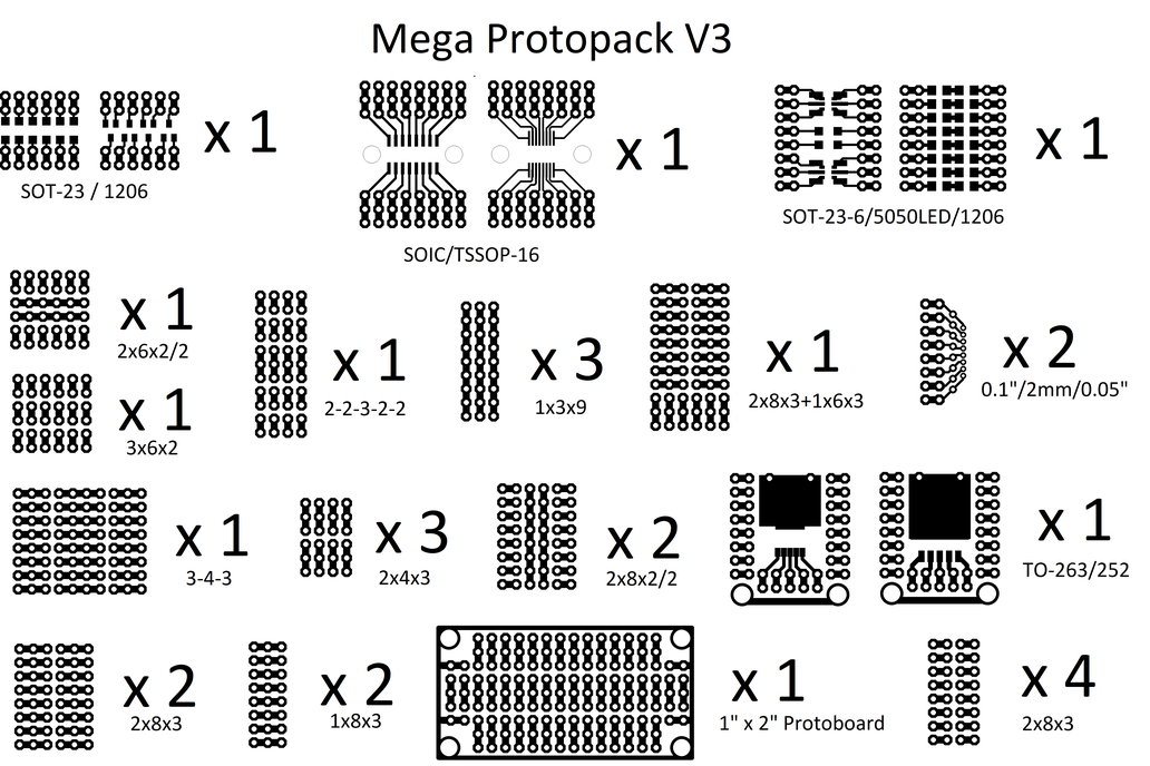 Mini protoboard pieces - 28 pcs set only $6! 4