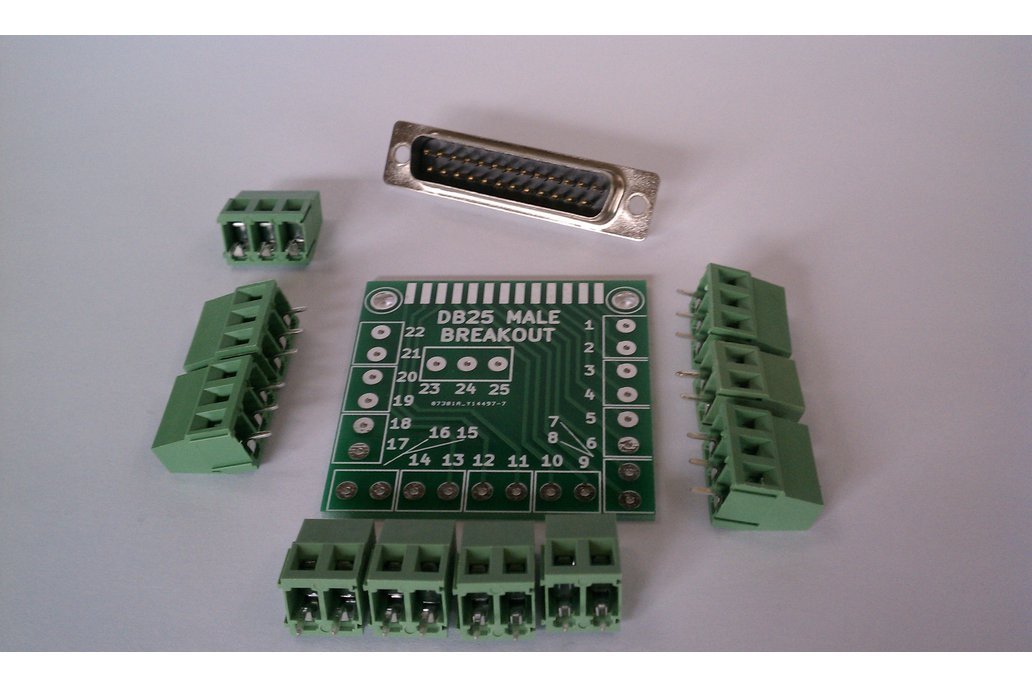 DB25 Male D-Sub 25pin Parallel Breakout Board Kit 1