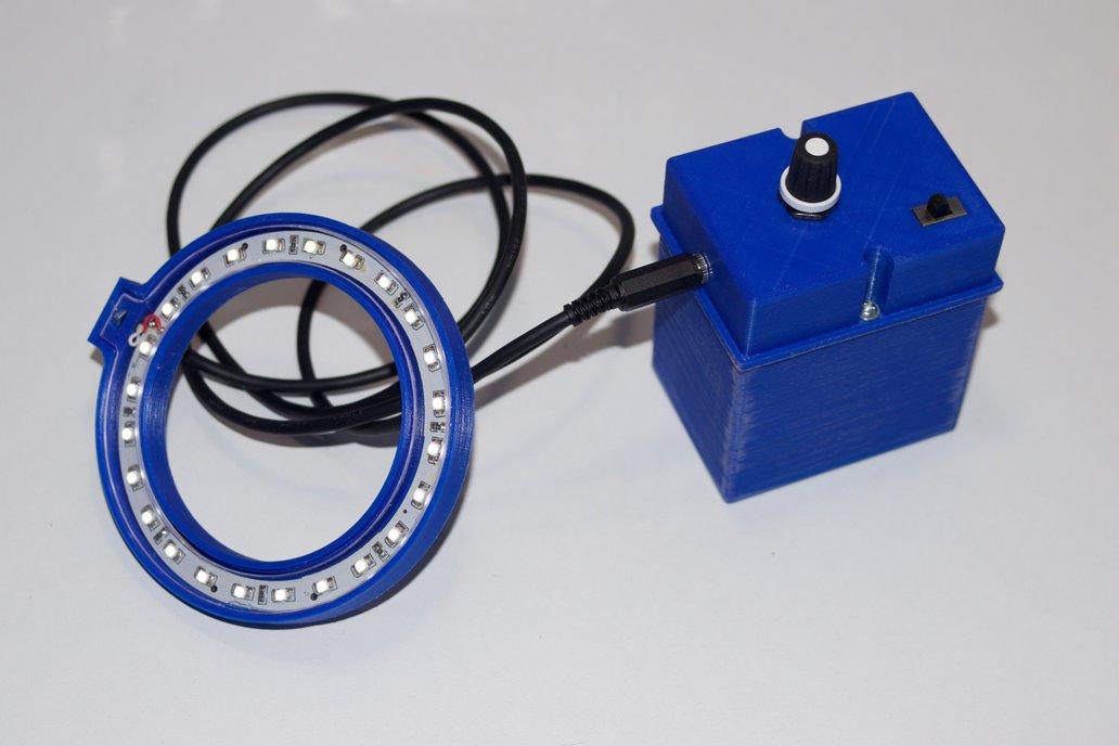 Variable intensity LED ring for DSLR cameras 5