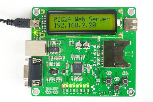 Ethernet Development Board Web Server Demo- PIC24FJ256GB106