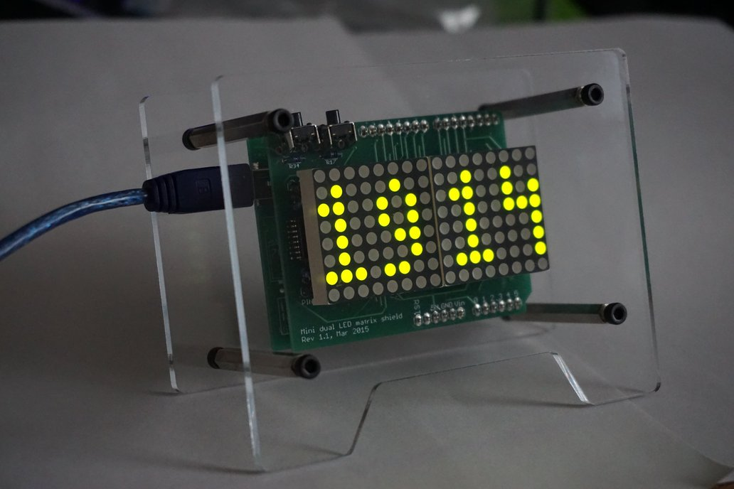 Basic LED matrix clock 1