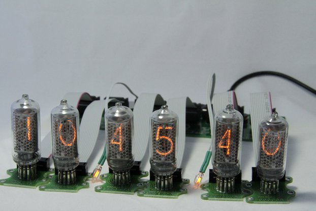 IN-8 Nixie Сlock with tubes on wires