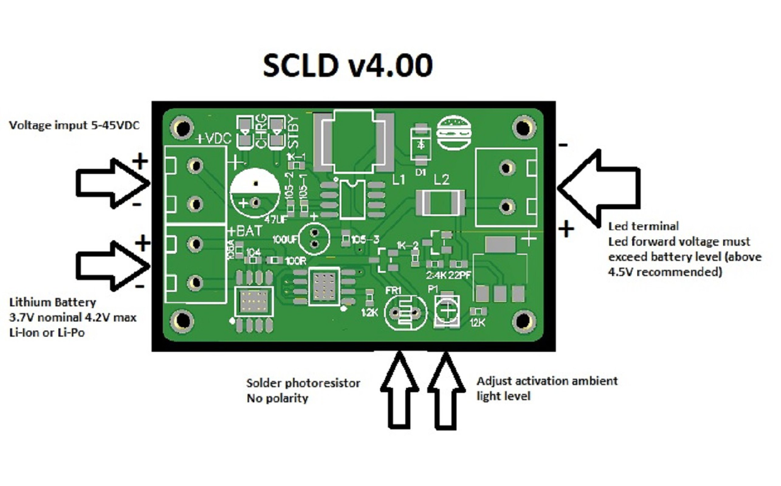 Scld V400 Solar Li Ion Charger Led Driver From Burgduino On Tindie Liion Battery Circuit Diagram 2