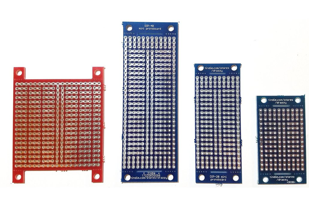 Prototyping board with breakaway mounting tabs 1