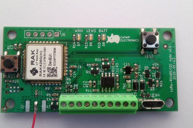 Low power LoRa I2C & RS485 node (868MHz)