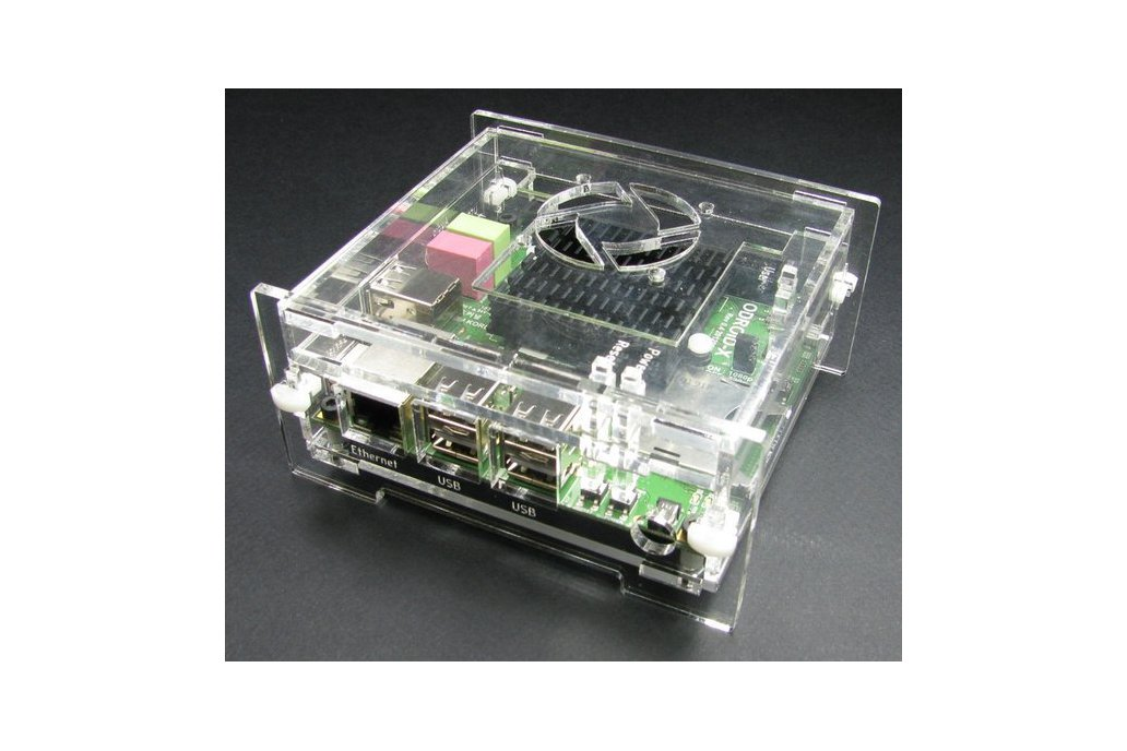 ODroid-X Enclosure with Fan Mount - Clear 2