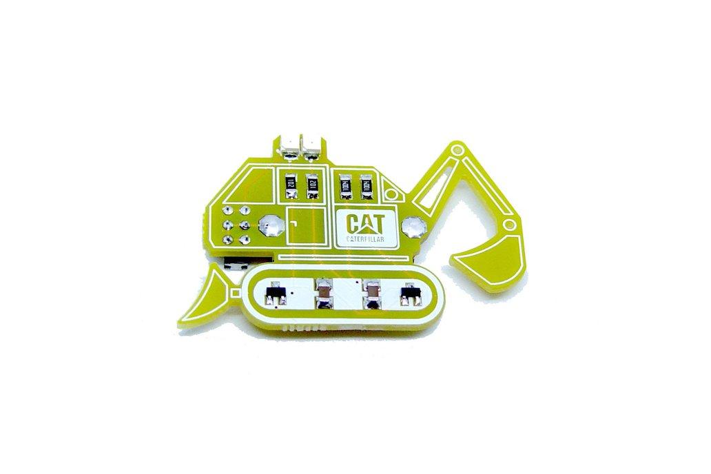 Bulldozer - LED learn to solder kit 1