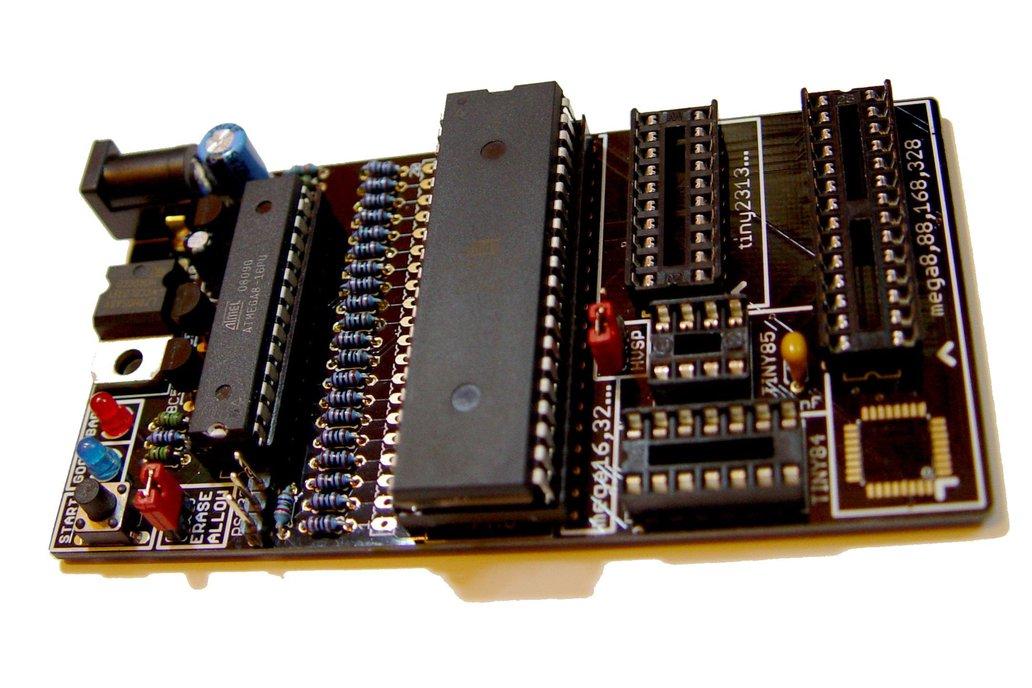 Bare PCB AVR fuse bit doctor HVPP  HVSP fix repair 4