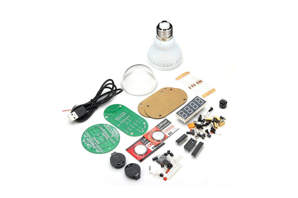 DIY Lampshade Remote Clock Electronic Clock Kit 2