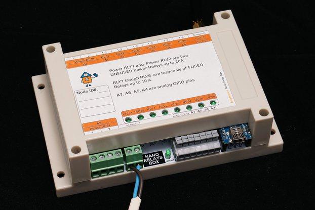 Arduino Nano 8 Relay Board wireless RFM69/95 NRF24