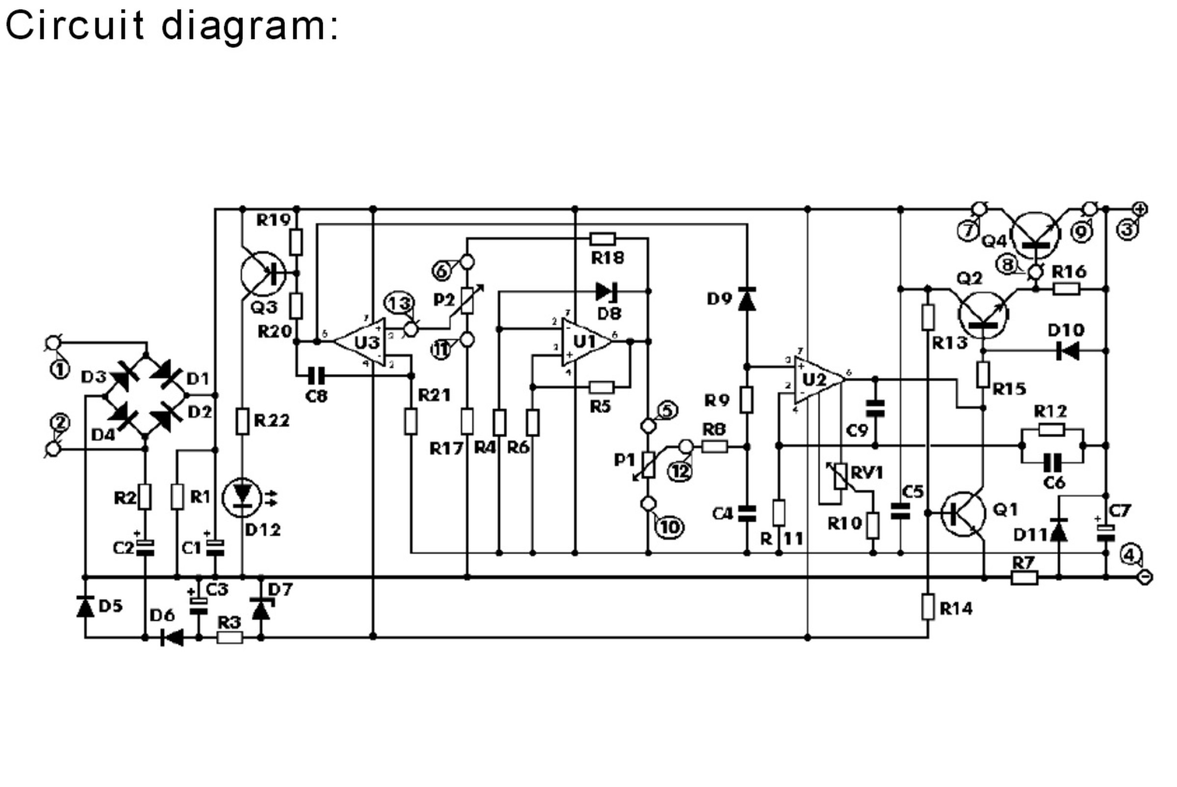 Precise Power Supply Adjustable 0-30V 0-3A DIY 5. Circuit Diagram ...