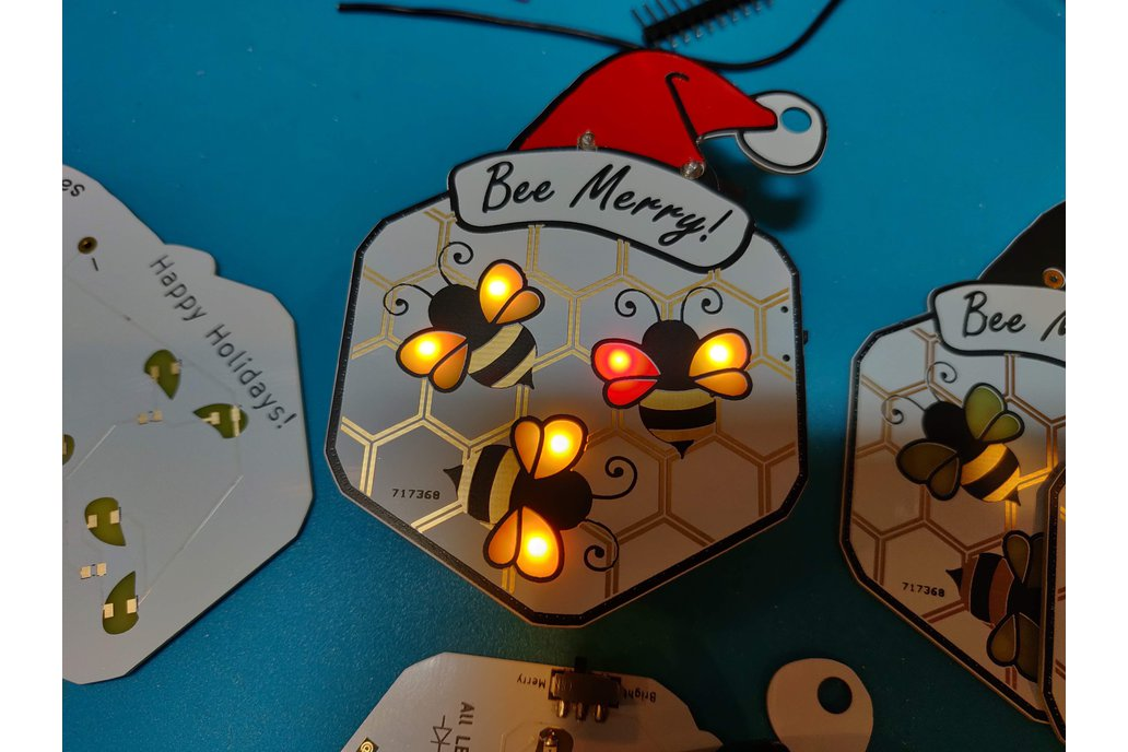 Bee Merry Christmas Ornament 1