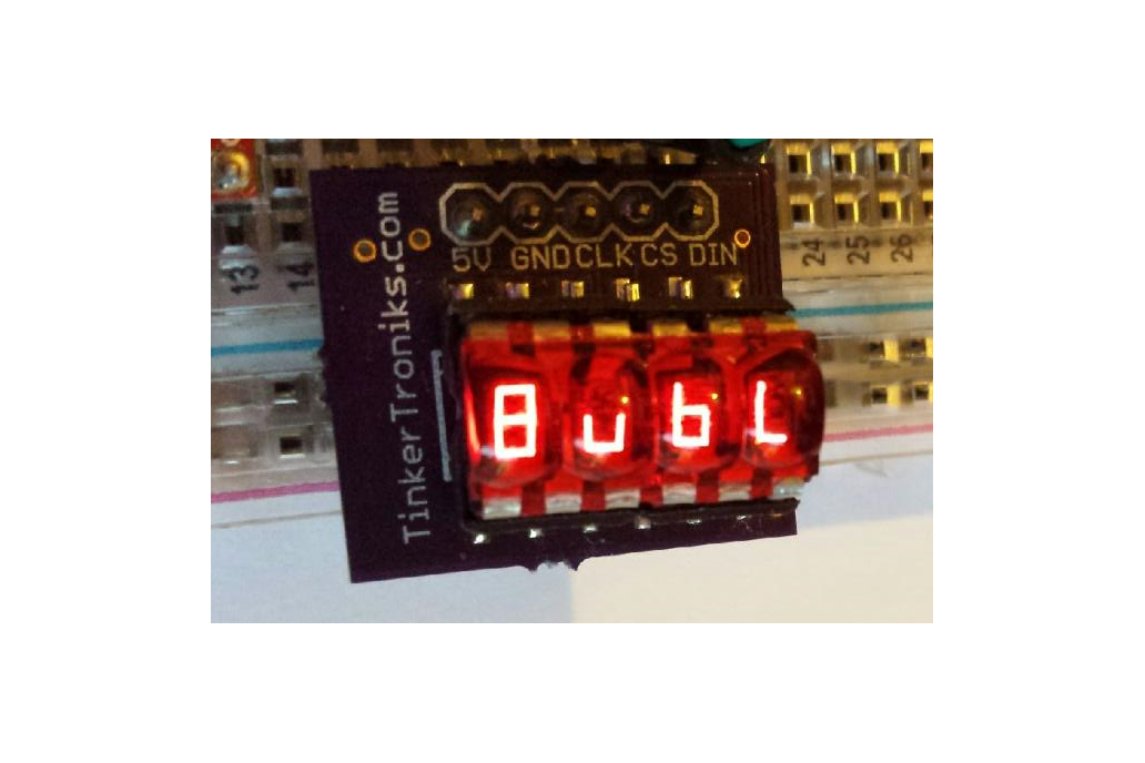 SPI Bubble Backpack Display - 7-Segment (4-digit) 1